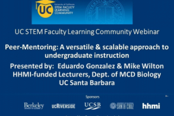 Embedded thumbnail for  Peer-Mentoring: A versatile & scalable approach to undergraduate instruction